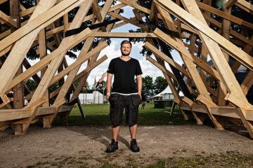 Byggeleder på Roskilde Festival